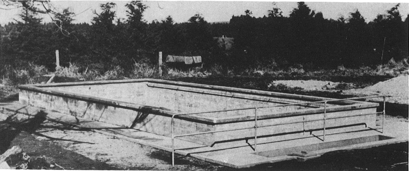 School swimming Pool under construction, 1945