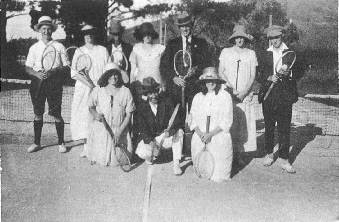 Tauwhare Tennis Club, late 1920's or early 1930's.