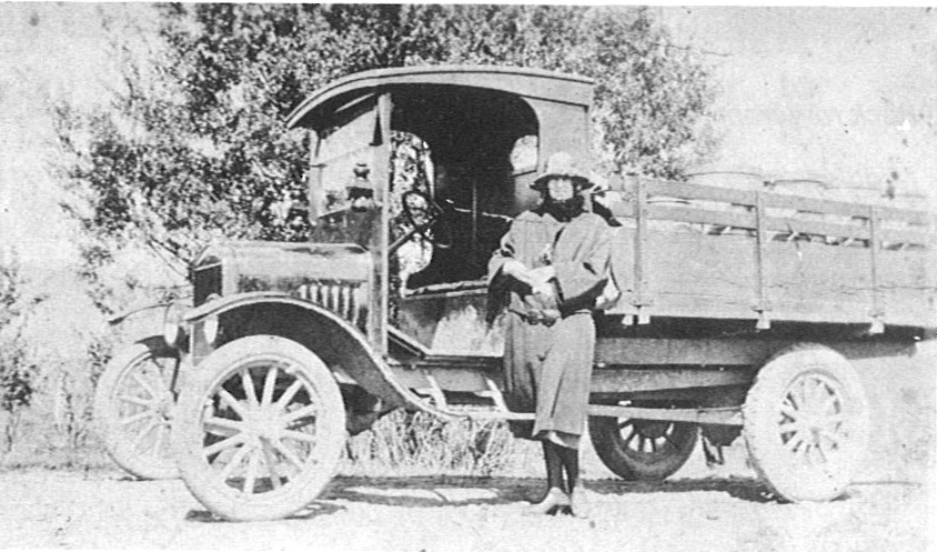 W. N. Goodare's truck for carting cream, mid-1920's.